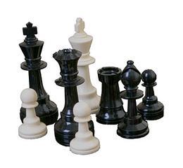 Πλαστικά Πιόνια Σκακιού με βαρίδι, KH 100mm