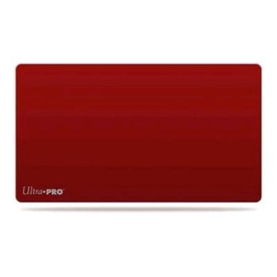 Red Plain Playmat with Logo