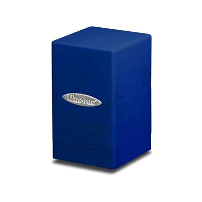 Satin Blue Tower Deck Box