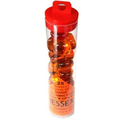 Orange Glass Stones in Tube