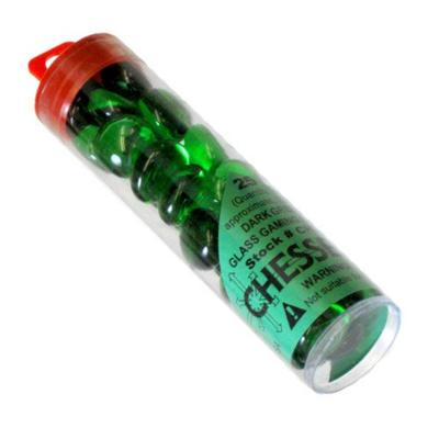Light Green Glass Stones in Tube