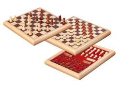 Σκάκι - Ντάμα, Holzbox