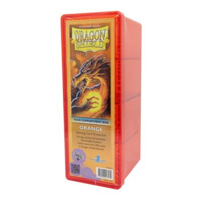 Dragon Shield Orange 4-Compartment Box