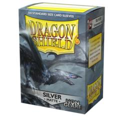 Dragon Shield Non-Glare Matte Silver Sleeves