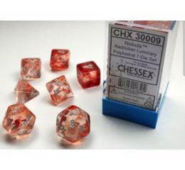 Nebula Red/Silver 7-Die Set