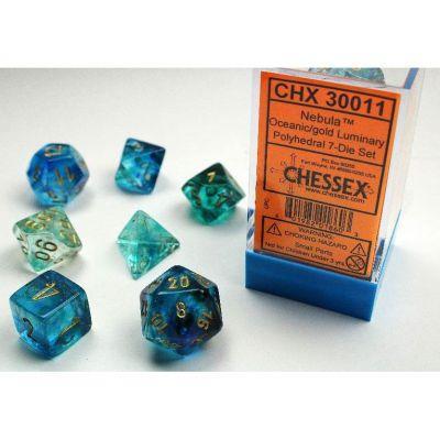 Nebula Oceanic/Gold 7-Die Set