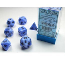 Vortex Snow Blue/Black 7-Die Set