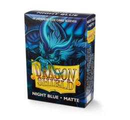 Dragon Shield Night Blue Small Matte Sleeves 60Ct