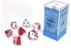 Gemini Red-White/blue 7-Die Set