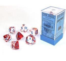 Gemini Red-White/blue 7-Die Set