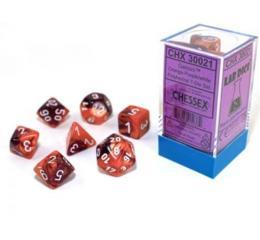 Gemini Orange-Purple/white 7-Die Set