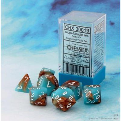 Gemini Copper-Turquoise/white 7-Die Set
