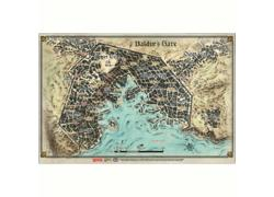 DD5 Baldur's Gate Map (58 x 43cm)