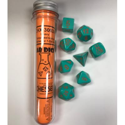 Heavy Turquoise/Orange 7-Die Set