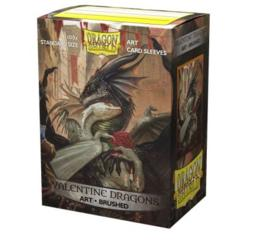 Dragon Shield Brushed Art Valentine Dragons Sleeves 100ct