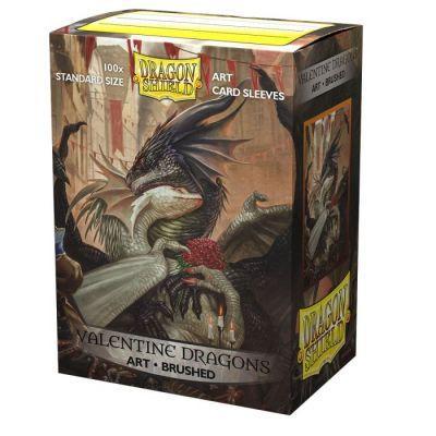 Dragon Shield Brushed Art Valentine Dragons Sleeves 100ct