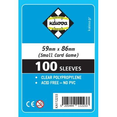 Sleeves 59x86 (Small Card Game)
