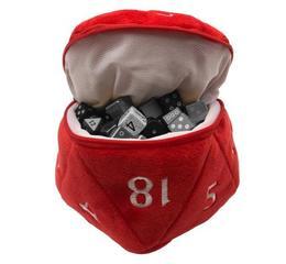 D&D Red D20 Plush Dice Bag