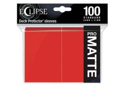 Eclipse Apple Red Matte Deck Protector 100ct