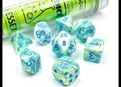 Festive Garden/Blue Polyhedral 7-Die Set