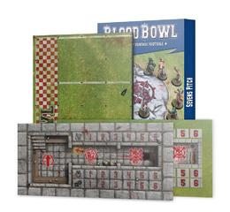 Blood Bowl: Dark Elf Pitch and Dugouts